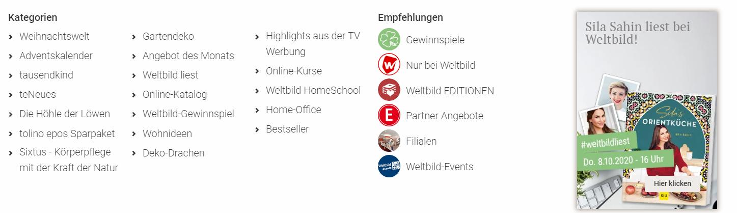 Der Service von Weltbild.ch