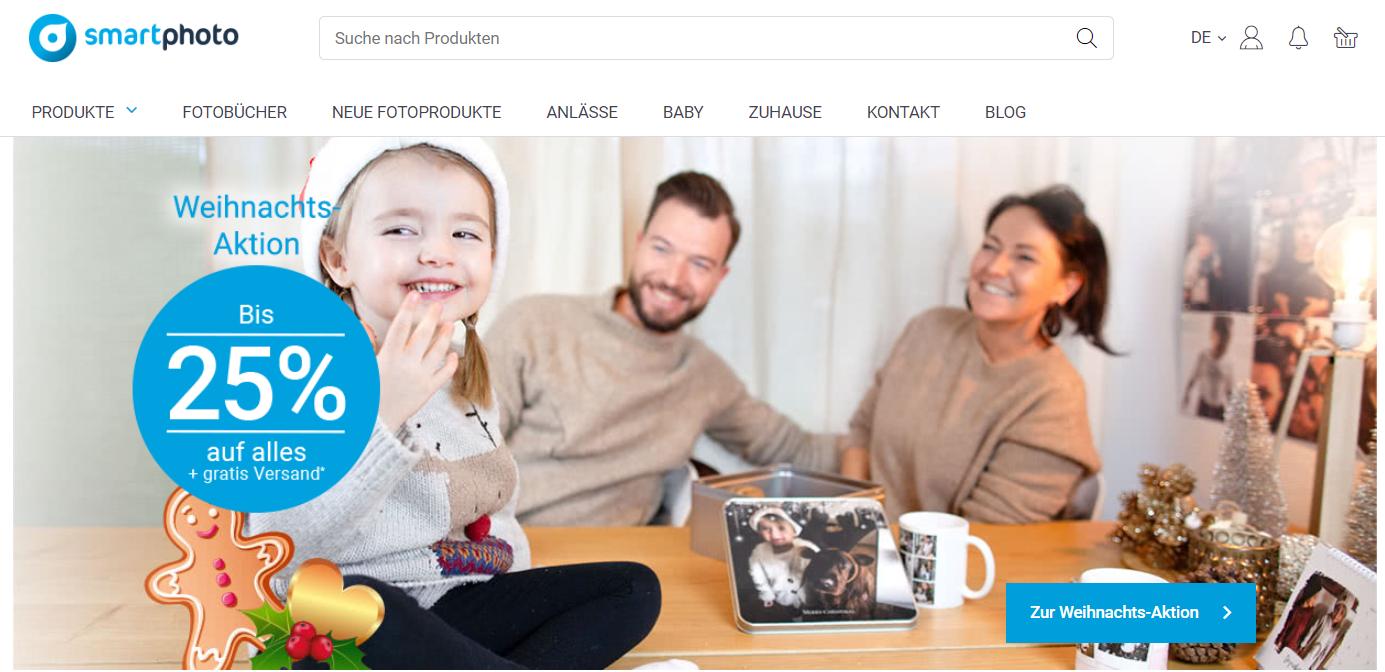 Startseite von Smartphoto