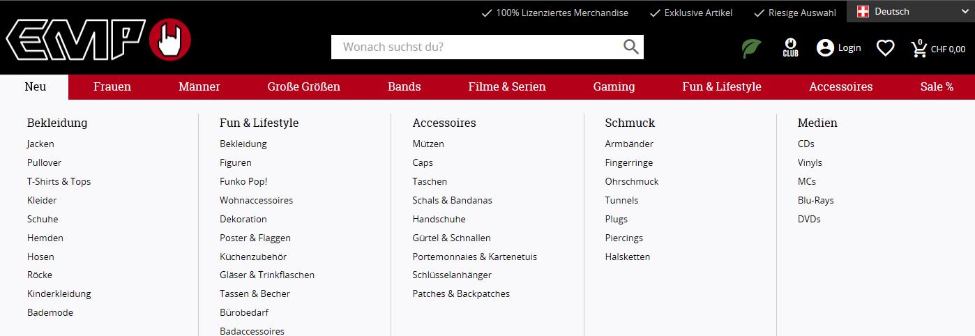 Die Kategorien von EMP