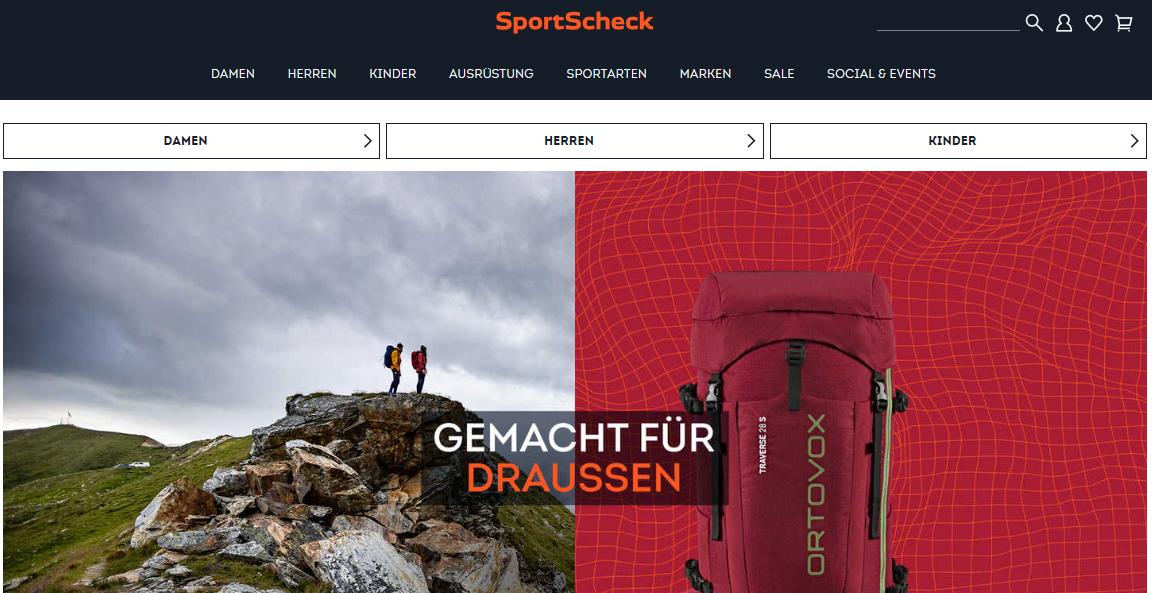 Startseite Sportscheck