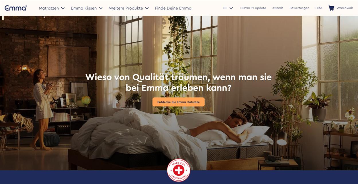 Emma Matratze Startseite