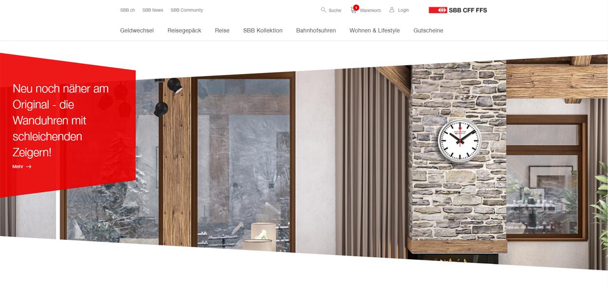 SBB Onlineshop Startseite