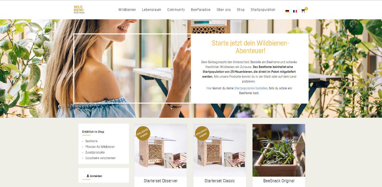 Wildbiene + Partner Startseite