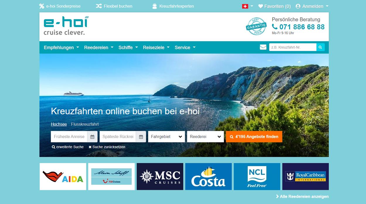 e-hoi Startseite Kreuzfahrten online buchen