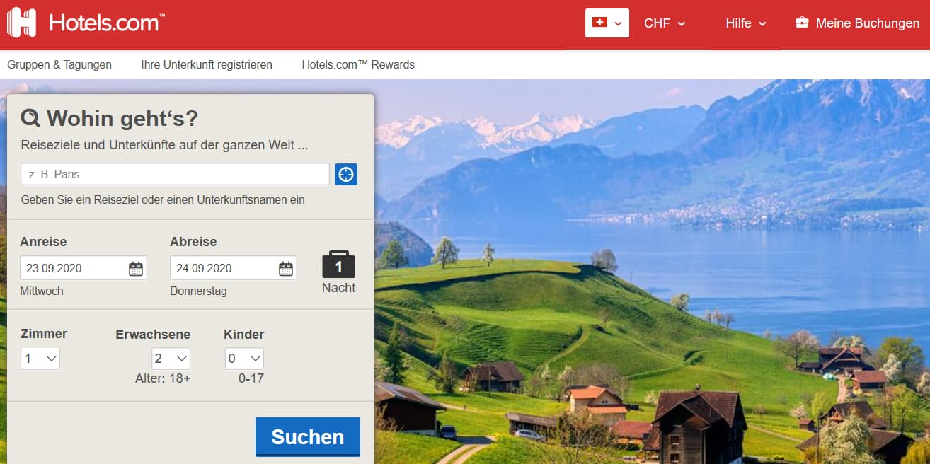 Hotels.com Gutschein nutzen und bei der nächsten Reisebuchung Geld sparen