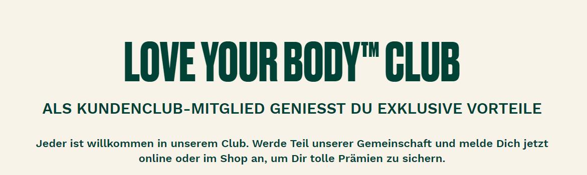 Der Kundenclub von The Body Shop