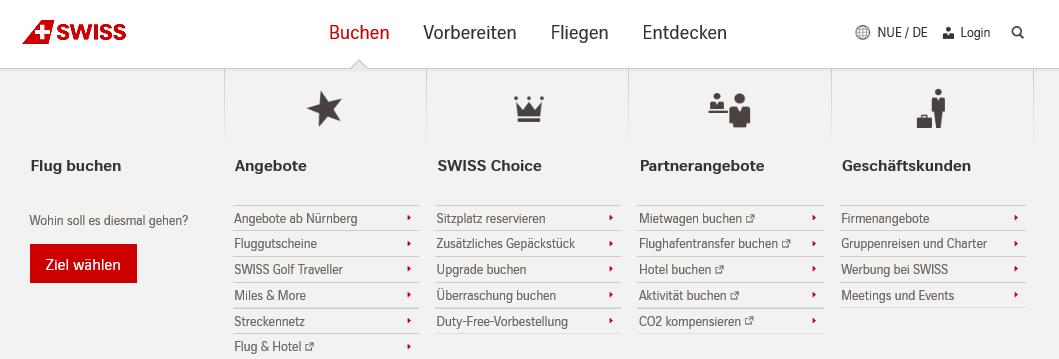Kategorien von Swiss