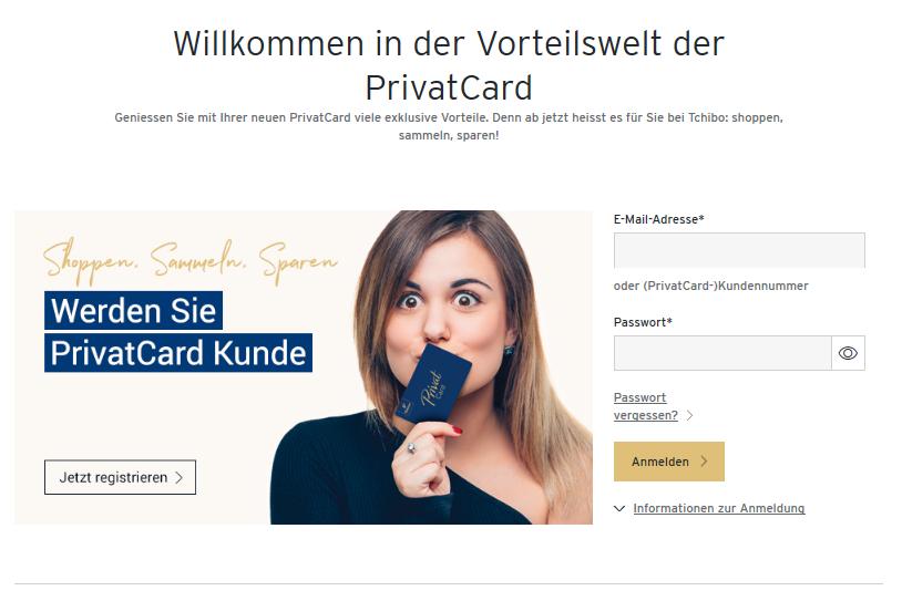 Die PrivatCard von Tchibo