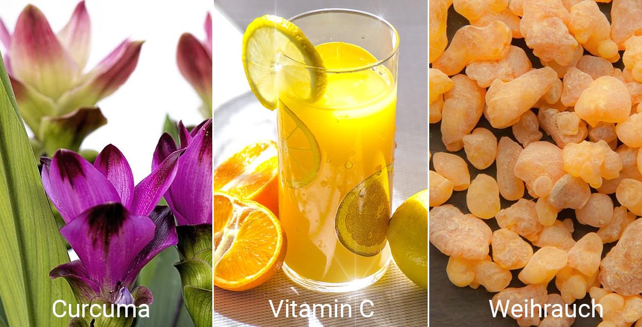 Vitamine Curcuma, Vitamin C, Weihrauch